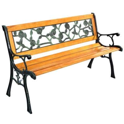 49.5 in. 3-Person Metal Patio Park Garden Porch Outdoor Bench