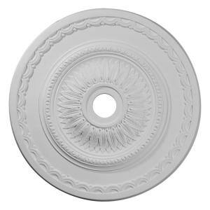 29-1/2'' x 3-5/8'' ID x 1-5/8'' Sunflower Urethane Ceiling Medallion (Fits Canopies up to 5 5/8''), Primed White