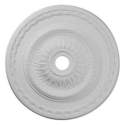 """29-1/2"""" x 3-5/8"""" ID x 1-5/8"""" Sunflower Urethane Ceiling Medallion (Fits Canopies up to 5 5/8""""), Primed White"""