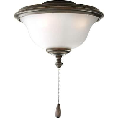 Fan Light Kits Collection 2-Light Antique Bronze Ceiling Fan Light Kit