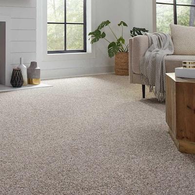 Barx I - Color Paper Moon Texture 12 ft. Carpet