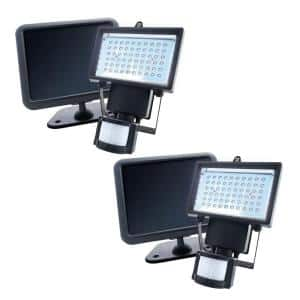 Solar Powered Motion Sensing Outdoor 500 Lumens-120 Degree Security Light with Advance LED Technology (2-Pack)