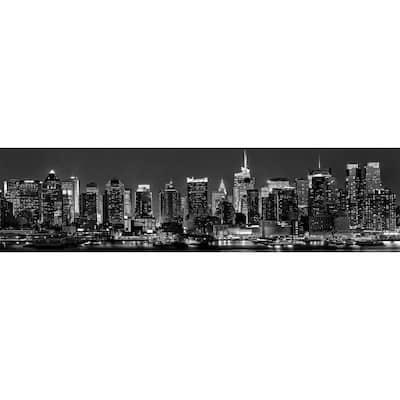 Black New York Skyline Peel and Stick Backsplash Wall Decal