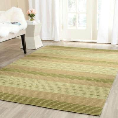 Marbella Green 4 ft. x 6 ft. Striped Area Rug
