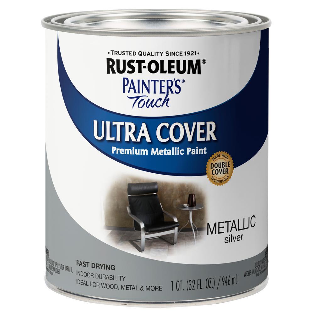 32 oz. Ultra Cover Metallic Silver General Purpose Paint