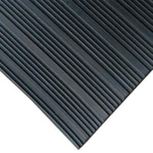 Corrugated Composite Rib Black 3 ft. x 4 ft. Rubber Flooring (12 sq. ft.)