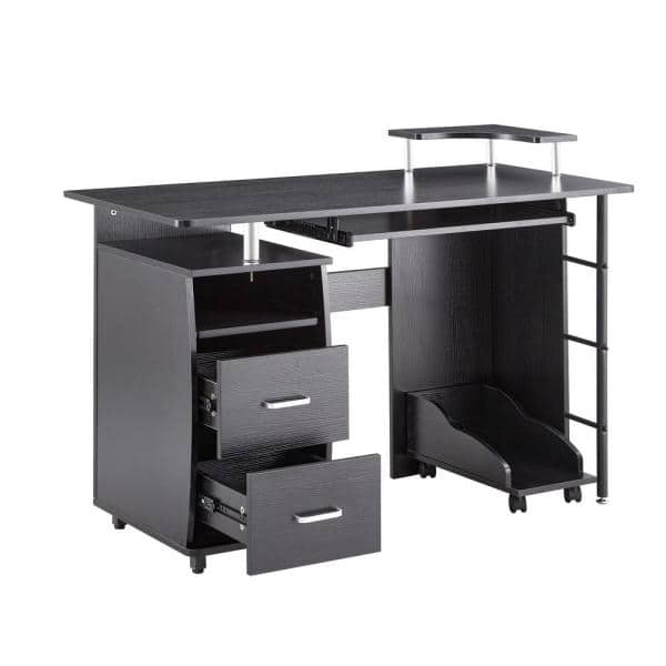 Lucky One Morden 21 65 In Rectangular, Double Desk Home Office With Drawers