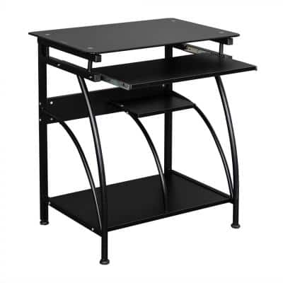 29.5 in. W Retangular Black Stalinite Computer Desk