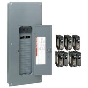 Homeline 200 Amp 30-Space 60-Circuit Indoor Main Breaker Plug-On Neutral Load Center with Cover - Value Pack