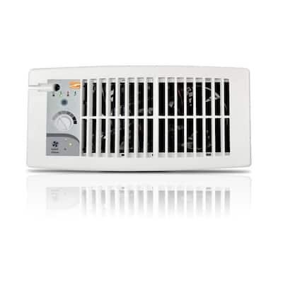 Flush Fit Smart Register Booster Fan - White