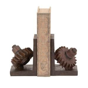 7 in. x 5 in. Polystone Machinery Gears Bookends