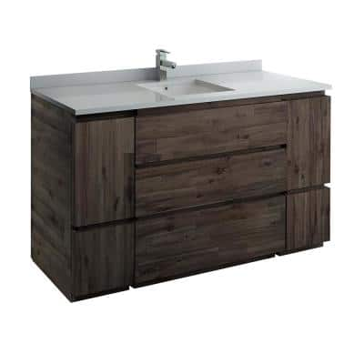 Formosa 59 in. W Modern Vanity Cabinet Only in Warm Gray