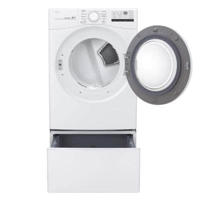 7.4 cu. ft. Ultra Large Capacity White Smart Gas Vented Dryer with Sensor Dry