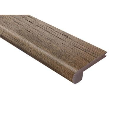 Strand Woven Bamboo Cobblestone 0.40 in. Thick x 3-1/4 in. Wide x 72 in. Length Bamboo Flush Stair Nose Molding