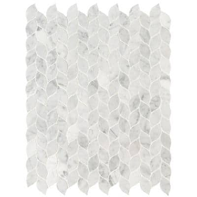 Carrara White Blanco 11.62 in. x 13.38 in. x 8 mm Honed Marble Mosaic Tile (10.8 sq. ft. / case)