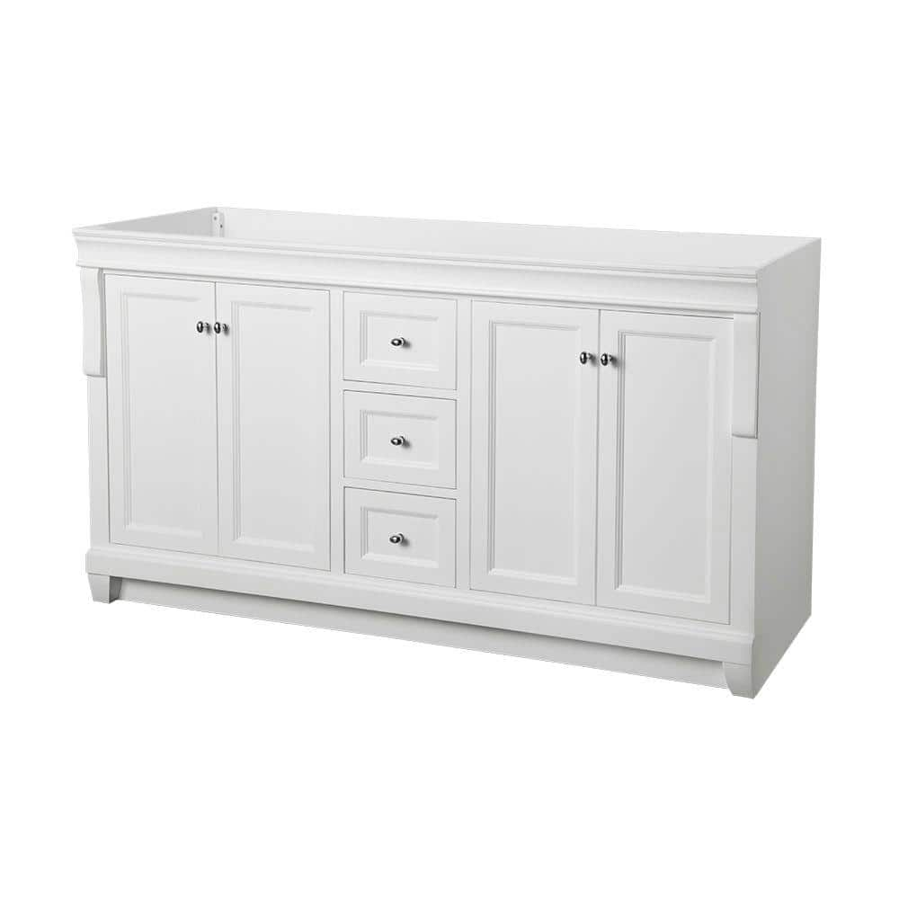 Home Decorators Collection Naples 60 In W X 21 3 4 In D Bath Vanity Cabinet Only In White Nawa6021d The Home Depot