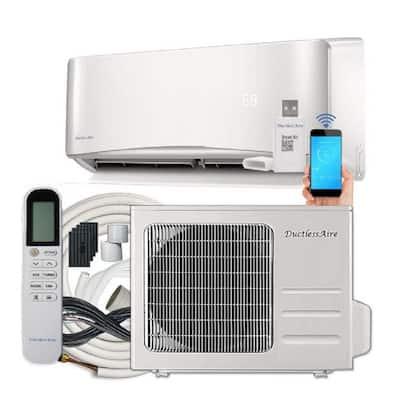 19 SEER 24000 BTU 2 Ton Ductless Mini Split Air Conditioner with Heat Pump Variable Speed Inverter - 220-Volt