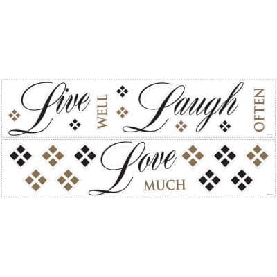Live Love Laugh Peel and Stick 22-Piece Wall Decals