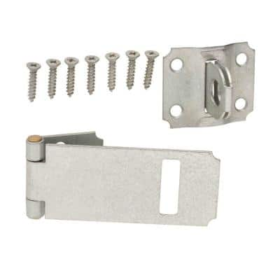 3-1/2 in. Galvanized Adjustable Staple Safety Hasp