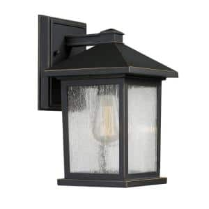 Malone 1-Light Oil-Rubbed Bronze Outdoor Wall Lantern Sconce