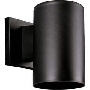 Cylinder Collection 5'' Black  Polymeric Modern Outdoor Wall Lantern Light