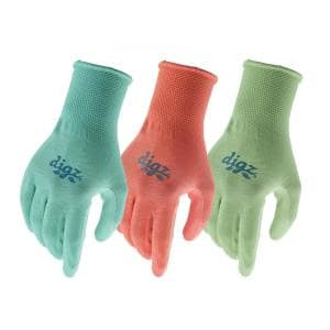 Women's Medium/Large Nitrile Coated Gloves (3-Pair)