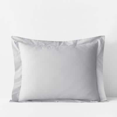 Pearl Gray Solid 400-Thread Count Supima Cotton Percale King Sham