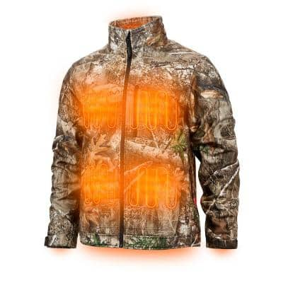 Men's 3X-Large M12 12V Lithium-Ion Cordless QUIETSHELL Camo Heated Jacket with (1) 3.0 Ah Battery and Charger