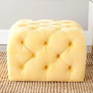 Kenan Sunflower Yellow Accent Ottoman