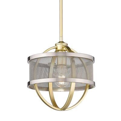 Colson 1-Light Olympic Gold Mini Pendant