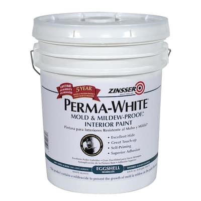 Perma-White 5 gal. Mold & Mildew-Proof Eggshell Interior Paint
