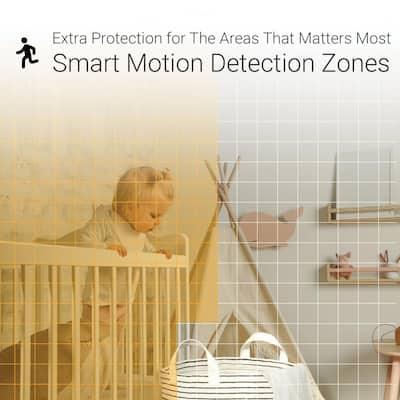 C1C 1080p Wireless Indoor WiFi Security Camera w/Motion Detection Zones Full Duplex 2-Way Audio 40ft. Super Night Vision
