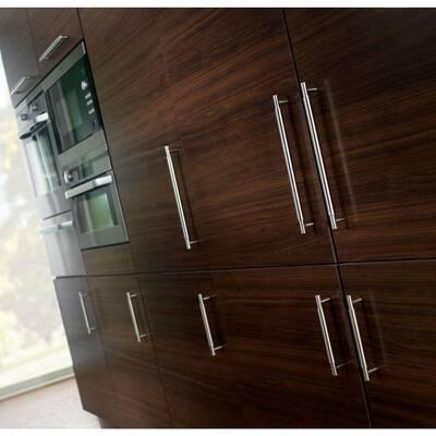 Modern Metal 6-5/16 in. (160mm) Center-to-Center Stainless Steel Bar Drawer Pull