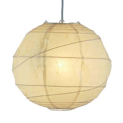 Orb 1-Light White Hanging Pendant