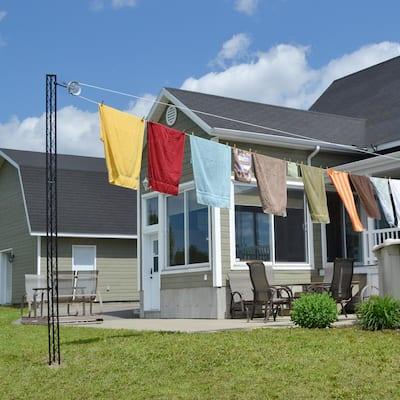 Outdoor Clothesline Post