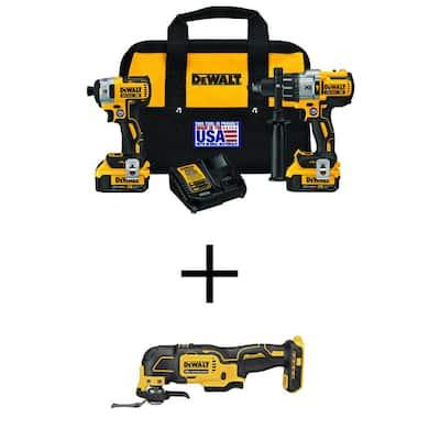 20-Volt MAX XR Li-Ion Cordless Brushless Hammer Drill/Impact Combo Kit (2-Tool) w/ Bare 20-V Brushless Oscillating Tool