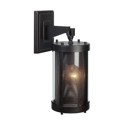 Morrissey 1-Light Black Outdoor Wall Lantern Sconce