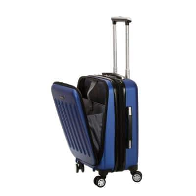 Titan Expandable 19 in. Hardside Spinner Laptop Carry-On Suitcase, Blue