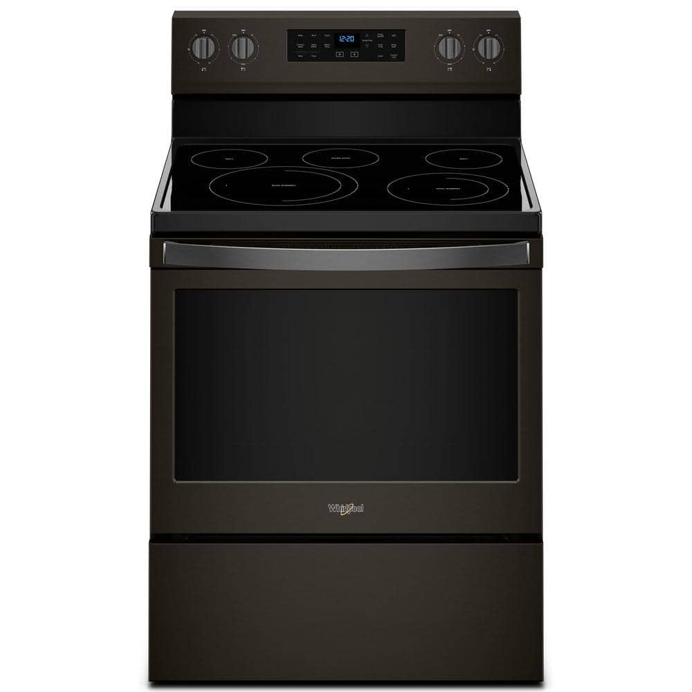 Reviews For Whirlpool 5 3 Cu Ft Electric Range With Self Cleaning Convection Oven In Fingerprint Resistant Black Stainless Wfe550s0hv The Home Depot