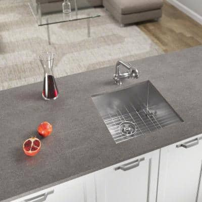 Stainless Steel 20 in. Single Bowl Undermount Kitchen Sink with Additional Accessories