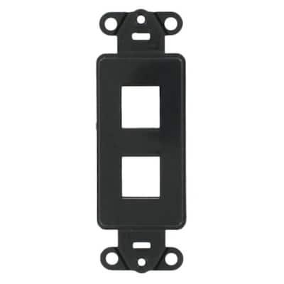 1-Gang Decora QuickPort 2-Port Insert in Black