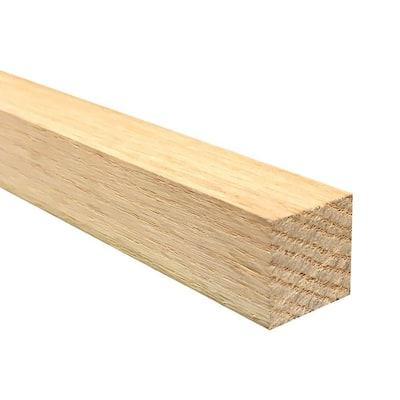 1 in. x 1 in. x Random Length S4S Oak Board