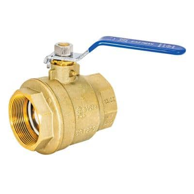 2 in. x 2 in. Brass IPS Full Port Ball Valve