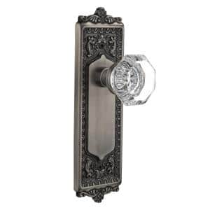 Nostalgic Warehouse Egg And Dart Plate 2 3 8 In Backset Antique Brass Passage Hall Closet Waldorf Crystal Door Knob 703414 The Home Depot