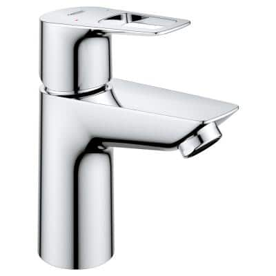 BauLoop Single-Handle Single Hole Bathroom Faucet and Less Drain in StarLight Chrome