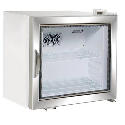 X-Series 2.0 cu. Ft. Single Door Merchandiser Refrigerator in White with Aluminum Frame Door