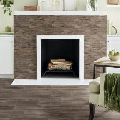 Sierra Wood Linear Hexagon 12 in. x 13 in. x 8 mm Glazed Porcelain Mosaic Floor and Wall Tile (0.97 sq. ft./Each)