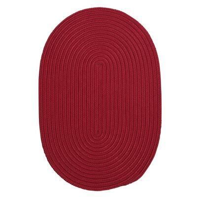 Trends Red 2 ft. x 10 ft. Braided Runner Rug