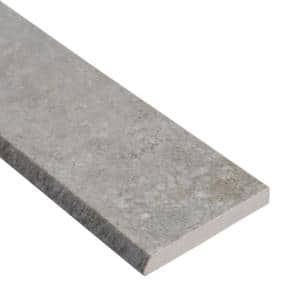 Brixstyle Gris Bullnose 2.4 in. x 24 in. Matte Porcelain Wall Tile (24 lin. ft. / case)