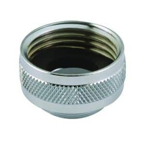 3/4 in. Female Hose x 55/64 in. Male Chrome-Plated Brass Laundry Faucet Adapter